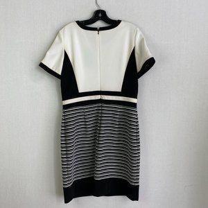 LAURA Black & White Stripe Dress NWT